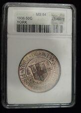 1936 York Comm. Half Dollar ANACS MS 64  (B9714)