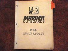 DEALER MANUAL-- MARINER SERVICE MANUAL