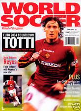 Francesco Totti Roma SIGNED World Soccer Magazine COA!