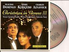 PLACIDO DOMINGO, CHARLES AZNAVOUR - Christmas in Vienna III CD SINGLE 3TR 1995