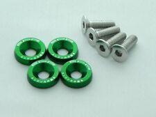 EPR anodizado verde aluminio GUARDABARROS Arandela & Tornillo HONDA CIVIC