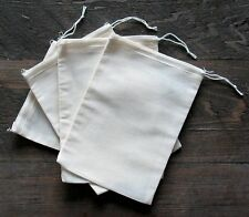 50 (5x7) Cotton Muslin Drawstring Bags Bath Soap Herbs