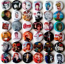 DAVID BOWIE Aladdin Sane Ziggy Stardust Space Oddity Heroes Button Badges Pins