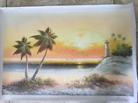 Original Oil Painting Palm Tree 24 x 36 Inches 2