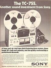 1974 Sony Tape Deck Recorder Cassette Print Advertisement Ad Vintage VTG 70s