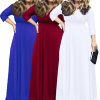 Plus Size Women Summer Formal Party Maxi Cocktail Evening Long Dress Prom Gowns