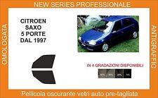 pellicola oscurante vetri pre tagliata citroen saxo 5p 1997 in poi kit anteriore