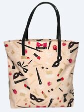 NEW WOT Kate Spade New York Steal The Scene Bon Shopper Pink Coated Canvas Tote