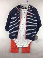 NWT Carter's 3 Piece Outfit Cherries Jacket Bodysuit Pants Size 12 Months