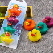 Bath Time Baby Infant Rubber Duck Family Set Kids Childrens Squeaky Toys Play UK