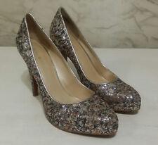 "NINE WEST Women's Brown Metallic ""ROCHA"" Platform Pump Shoe Size 8M"