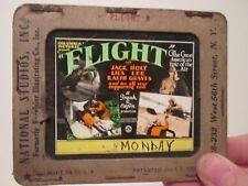 Flight   - Original 1929  Movie Glass Slide - Holt - Frank Capra