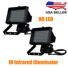 2X 96 LED Night Vision IR Infrared Illuminator Light Lamp for CCTV Camer Black