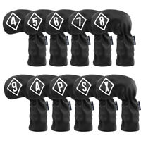 10pcs Golf Black Iron Head Covers Headcover For Taylormade Callaway Mizuno Cobra