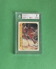 1986-87 Michael Jordan Fleer Rookie Card Rc Sticker High Sub 8 9 Near Mint