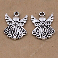 15pc Charms 2-Sided Angel Pendant Jewellery Making Crafts Tibetan Silver /S19