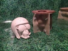 LATEX ONLY MOULD SKULL 15CM TALL ORNAMENT MOULD