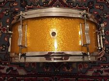 ALL ORIGINAL Keystone Badge 5x14 Gold Sparkle Nickel LUDWIG PIONEER