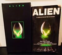 Alien 1979 film (VHS and Movie Tie-In Paperback) Sigourney Weaver SciFi-Horror!