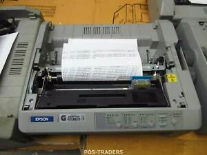 EPSON FX-890 USB Dot Matrix Printer 9-Pin MISSING FRONT & REAR COVER & TRACTOR