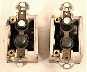 VINTAGE LOT OF 2 H&H MOTHER OF PEARL PUSH BUTTON SINGLE POLE LIGHT SWITCH