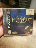 Echo Night (Sony PlayStation 1, 1999) - Case and Manual w/Reg only -No Game!-