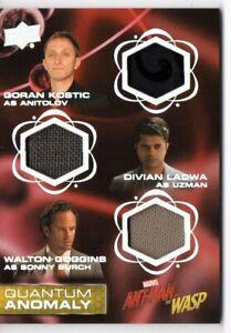 Ant-Man & the Wasp QUANTUM ANOMALY TRIPLE RELIC Card QMT5 / ANTIOLOV UZMAN BURCH