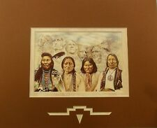 """Original Founding Fathers"" Brown Matted Print (10x8) Artist: David Behrens"
