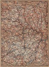 Le grand-duché de luxembourg luxembourg topo-map carte. baedeker 1905 old