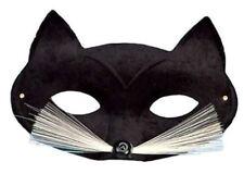 Adulto Bambino Halloween Animale Glitter Nero//rosa CAT /& Baffi Occhi Maschera Accessorio