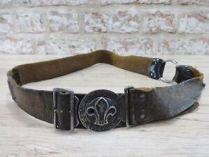Boy Scouts Leather belt vintage
