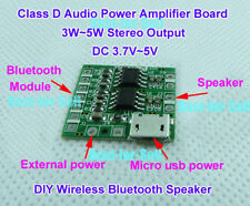 DC 3.7V-5V Micro Class D Stereo Amplifier Board 3W-5W Amp DIY Bluetooth Speaker