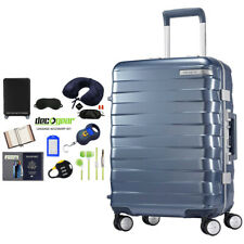"Samsonite Framelock Hardside Carry On Luggage w/ Wheels 25"" Blue + Accessory Kit"