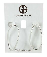 Giani Bernini Sterling Silver Large Wave Hoop Earrings Msrp $90.00 *New with tag
