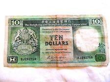 1985 Hong Kong Ten ($10) Dollar Bank Note