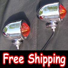 Turn Signal Bullet Lights Amber Dual Filament Set for Yamaha Indian Motorcycle