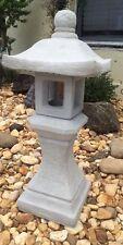 Pagoda Statue Concrete Lawn Garden Decor Spiritual Zen Oriental Lantern yard art
