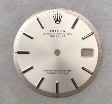 Authentic Rolex Mens Datejust Vintage Silver Stick Marker Dial for 1601-1603