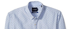 Scotch & Soda Men's Slim Fit Allover Printed Shirt Long Sleeve L New $100 BLM3-1