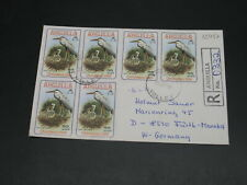 Anguilla 1981 registered cover to Germany *12457
