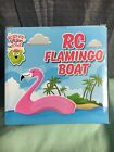 Scatter Brain Toys RC Flamingo Boat W/Remote - New