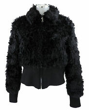 Prada veste courte noir faux fur 38 (d) 44 (I) Blouson mohair webpelz comme neuve