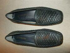 St Johns Bay Womens Size 7.5 W Gray-Blue Basketweave Flat Shoes