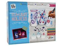 Decorate Your Own Tea Light Candle Holders Garden Lights Kids Art & Craft Set