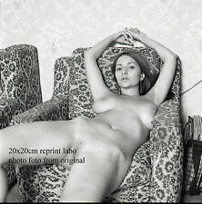 NU NUDE PHOTO FOTO 20X20CM REPRINT FROM ORIGINAL NEG NATURELLE BEAUTE NEW48