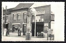 Cpa Carte Photo Belgique Ellezelles garage station service au 189 rue de Renaix