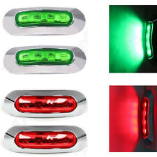 4x Green/Red 4 SMD LED Lamp Side Marker Clearance Light for Car Truck Trailer RV