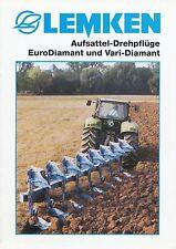 Lemken Aufsattel-Drehpflug EuroDiamant Prospekt 10/99