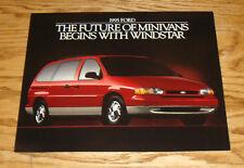 Original 1995 Ford Windstar Minivan Sales Sheet Brochure 95