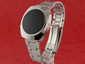 Microsonic NOS Rare Old Vintage 1970s Digital LED L.E.D LCD Mens Swiss Watch
